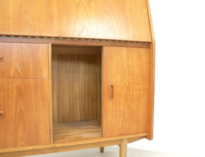 Mid Century Retro Teak Bureau Office Desk #0355 8