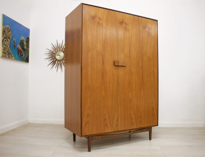 Mid Century Retro Teak Ladies Wardrobe by G Plan Kofod Larsen Danish #0356 0