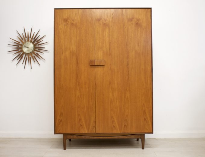 Mid Century Retro Teak Ladies Wardrobe by G Plan Kofod Larsen Danish #0356 1
