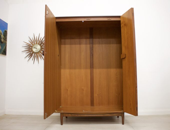 Mid Century Retro Teak Ladies Wardrobe by G Plan Kofod Larsen Danish #0356 6