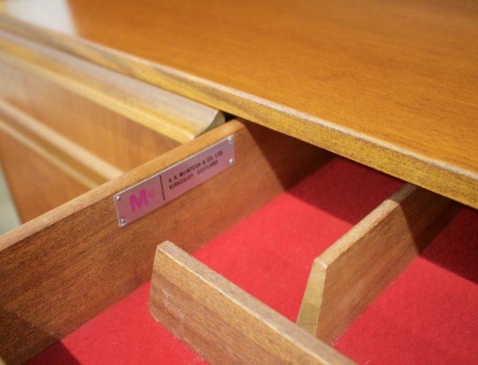 Mid Century Retro Teak McIntosh Drinks Cabinet Highboard Sideboard #0400 5