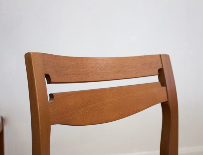 Mid Century Retro Set of 6 Teak Dining Chairs by Nathan #0412 2