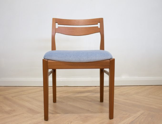 Mid Century Retro Set of 6 Teak Dining Chairs by Nathan #0412 5