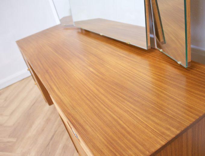 Mid Century Teak & Walnut Dressing Table from Golden Key #0450 4
