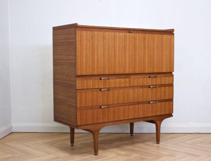 Mid Century Retro Teak Bureau or Drinks Cabinet from Meredew #0456 4