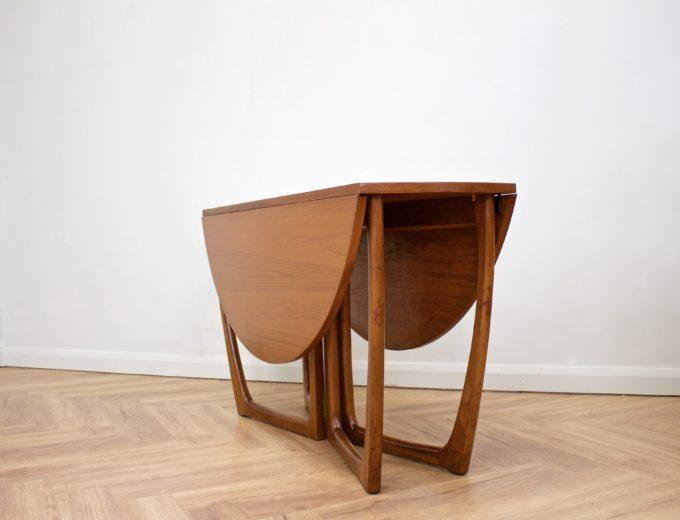 Mid Century Teak Danish Drop Leaf Dining Table #0461 0