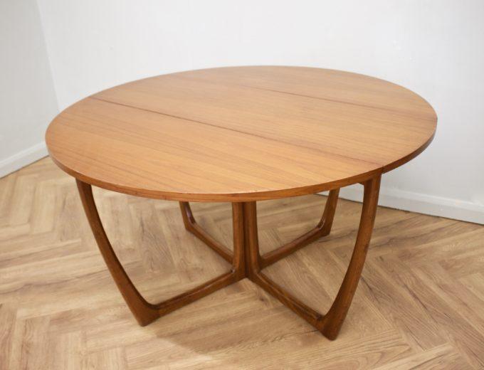 Mid Century Teak Danish Drop Leaf Dining Table #0461 2