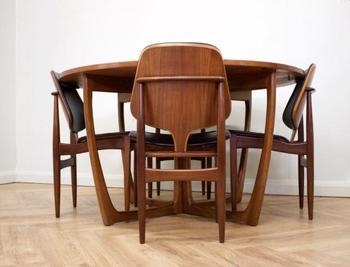 Mid Century Teak Danish Drop Leaf Dining Table #0461 4