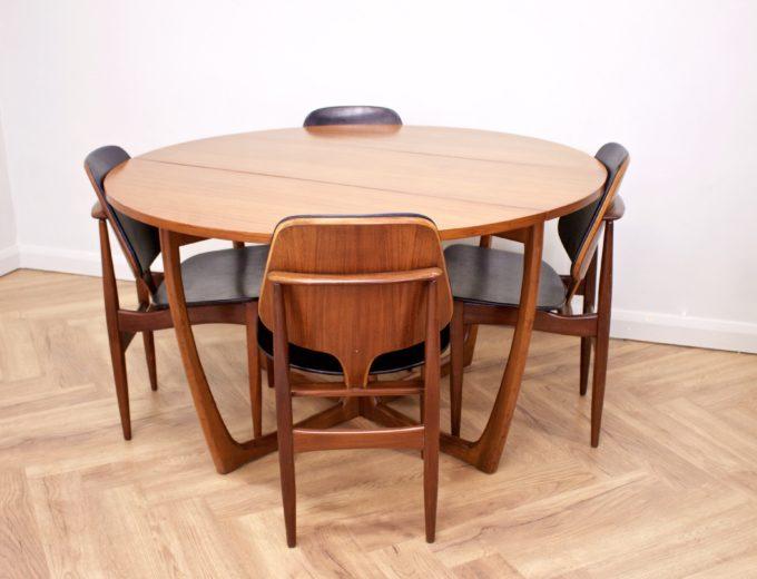 Mid Century Teak Danish Drop Leaf Dining Table #0461 5