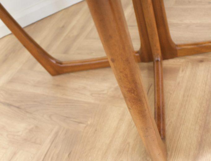 Mid Century Teak Danish Drop Leaf Dining Table #0461 7