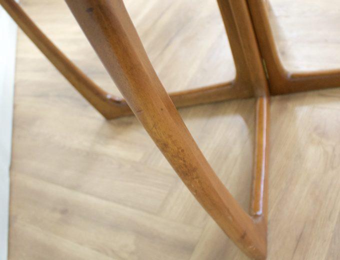 Mid Century Teak Danish Drop Leaf Dining Table #0461 8