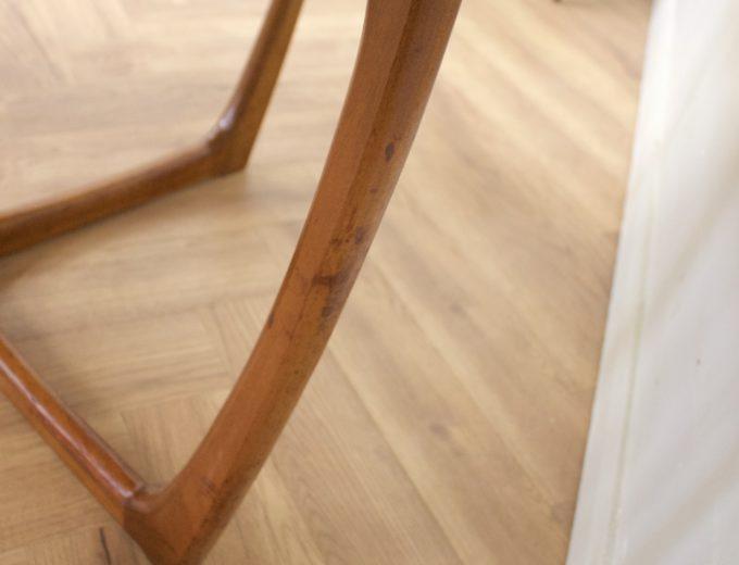 Mid Century Teak Danish Drop Leaf Dining Table #0461 9
