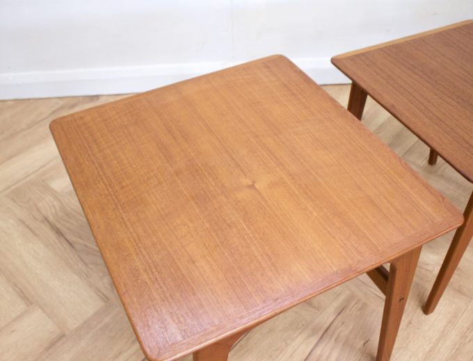 Mid Century Retro Teak Danish Teak Nest of Tables Pedersen for Vejen #0482 3