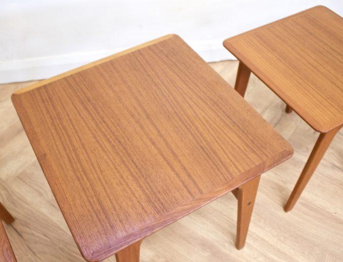 Mid Century Retro Teak Danish Teak Nest of Tables Pedersen for Vejen #0482 4