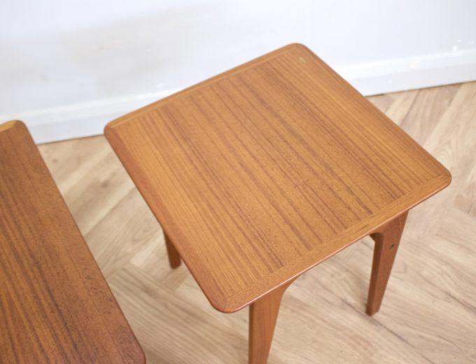 Mid Century Retro Teak Danish Teak Nest of Tables Pedersen for Vejen #0482 5