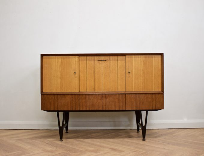 Mid Century Retro Teak & Oak Drinks Cabinet / Sideboard from Beautility #0505 0