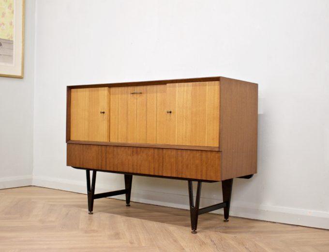 Mid Century Retro Teak & Oak Drinks Cabinet / Sideboard from Beautility #0505 1
