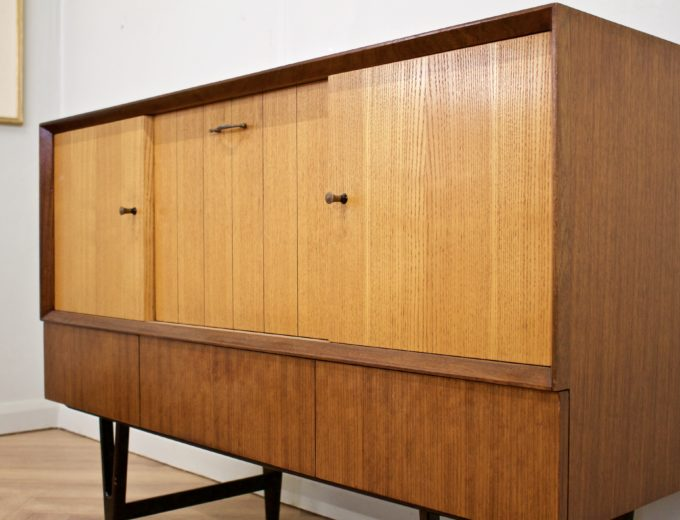 Mid Century Retro Teak & Oak Drinks Cabinet / Sideboard from Beautility #0505 2