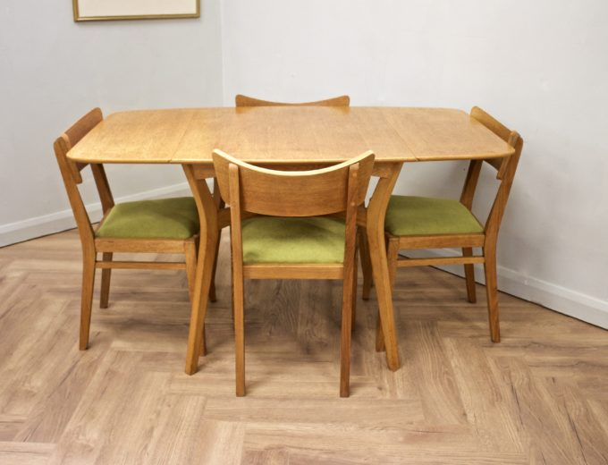 Mid Century Drop Leaf Oak Dining Table & 4 Dining Chairs G Plan #0515 1
