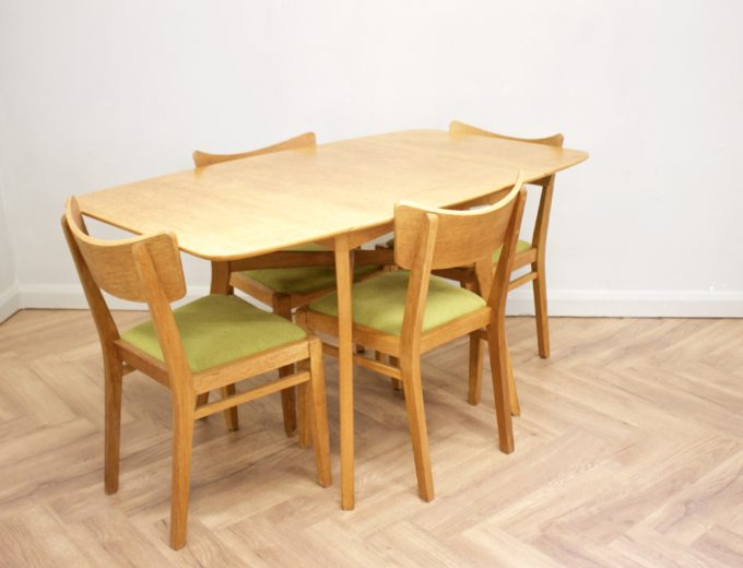 Mid Century Drop Leaf Oak Dining Table & 4 Dining Chairs G Plan #0515 3