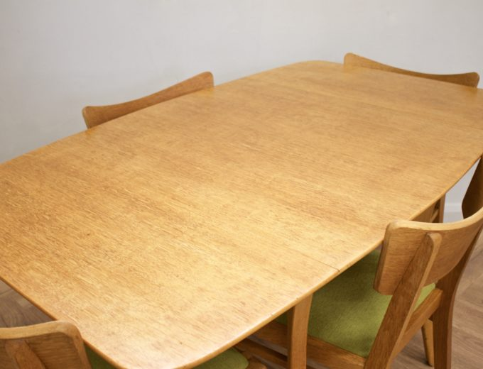 Mid Century Drop Leaf Oak Dining Table & 4 Dining Chairs G Plan #0515 4