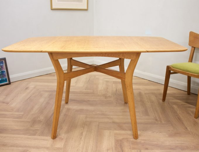 Mid Century Drop Leaf Oak Dining Table & 4 Dining Chairs G Plan #0515 5