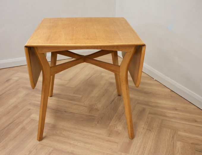 Mid Century Drop Leaf Oak Dining Table & 4 Dining Chairs G Plan #0515 6