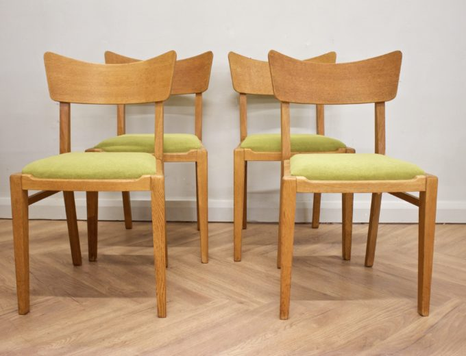 Mid Century Drop Leaf Oak Dining Table & 4 Dining Chairs G Plan #0515 7