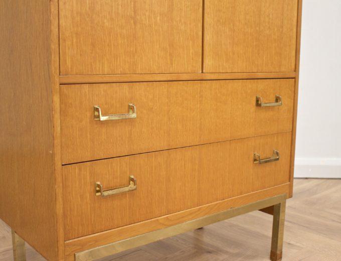 Mid Century Oak Tallboy Linen Cupboard Chest By G Plan #0520 5