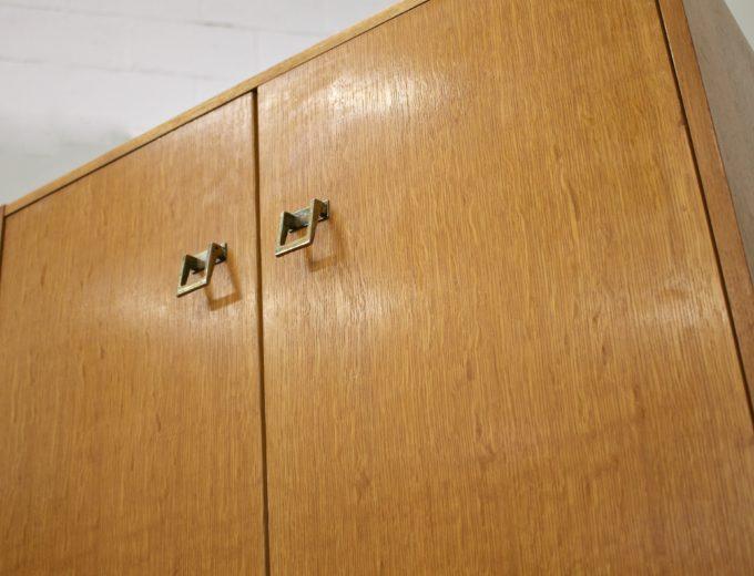 Mid Century Oak Tallboy Linen Cupboard Chest By G Plan #0520 6