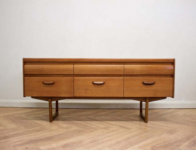 Mid Century Teak Compact Sideboard or Dresser William Lawrence #0523 0