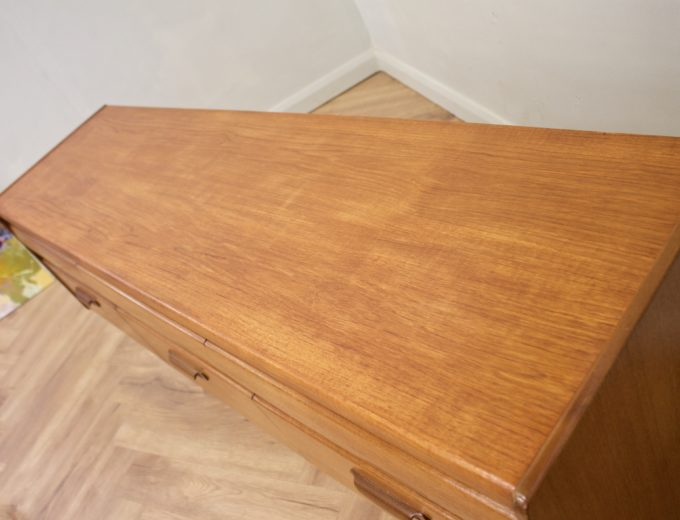 Mid Century Teak Compact Sideboard or Dresser William Lawrence #0523 6