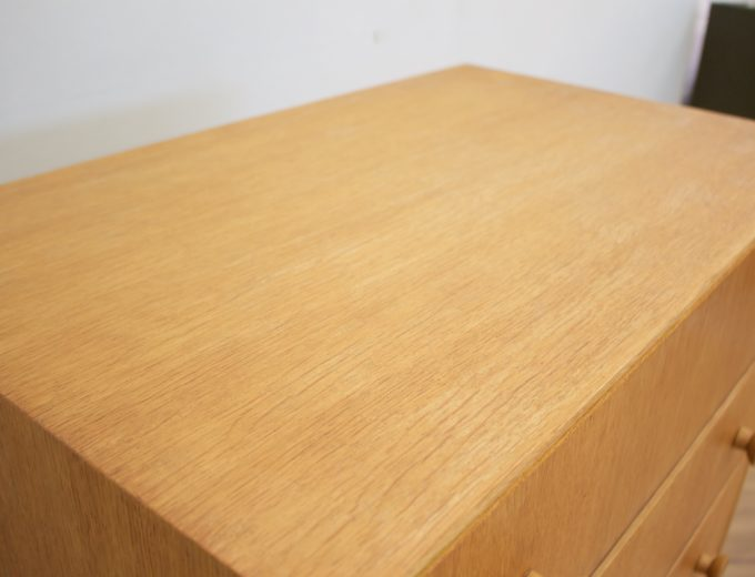 Mid Century Oak Tallboy Chest of Drawers From Meredew #0531 4
