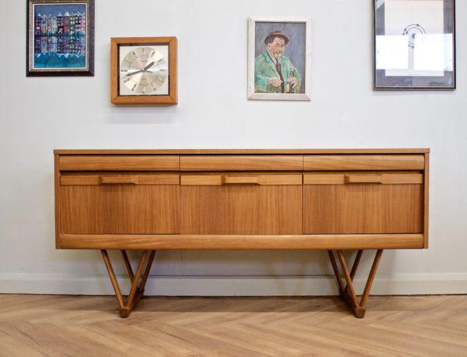 Mid Century Retro Teak Compact Sideboard or Dresser #0528 0
