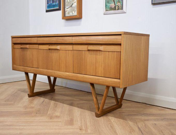 Mid Century Retro Teak Compact Sideboard or Dresser #0528 1