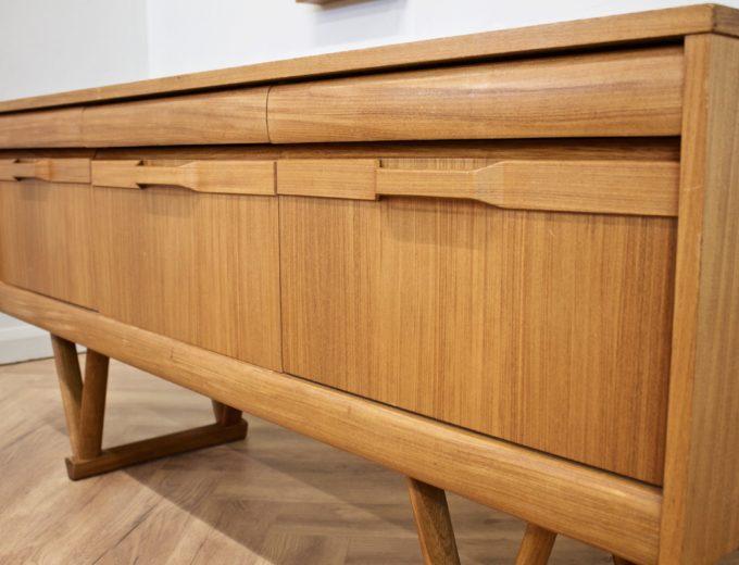 Mid Century Retro Teak Compact Sideboard or Dresser #0528 2