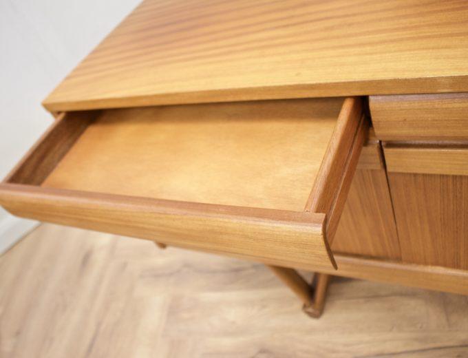 Mid Century Retro Teak Compact Sideboard or Dresser #0528 4
