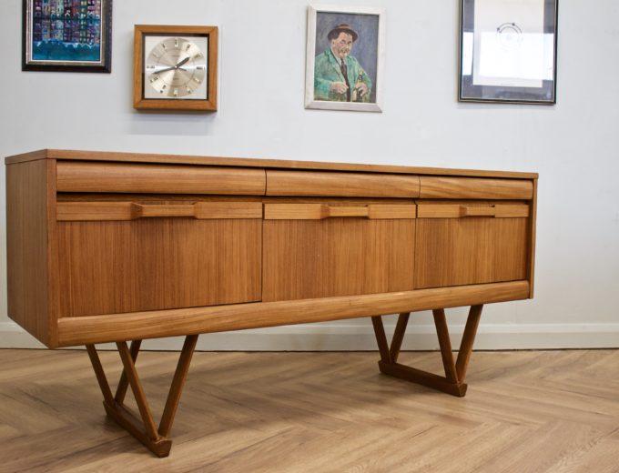 Mid Century Retro Teak Compact Sideboard or Dresser #0528 6