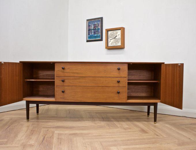 Mid Century Walnut Compact Sideboard G Plan #0529 4