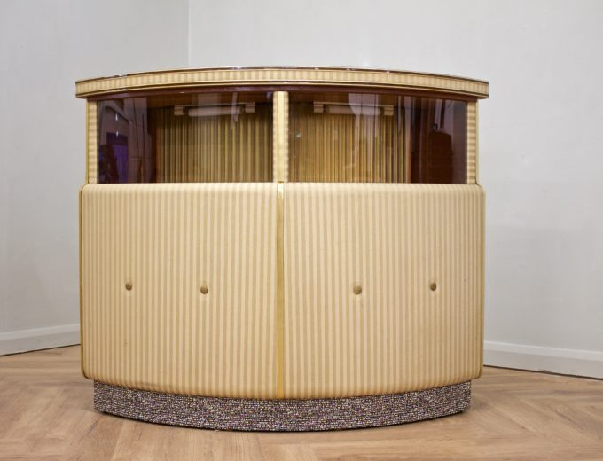 Mid Century Teak Home Cocktail Bar Drinks Cabinet #0535 0
